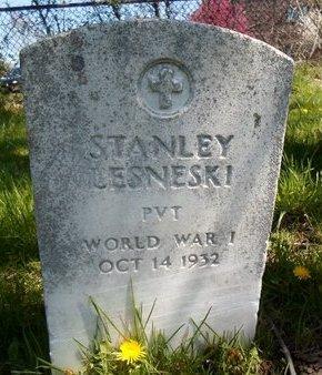 LESNESKI (WWI), STANLEY - Albany County, New York | STANLEY LESNESKI (WWI) - New York Gravestone Photos