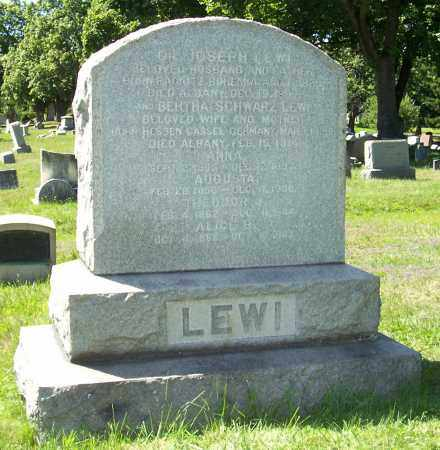 SCHWARZ LEWI, BERTHA - Albany County, New York | BERTHA SCHWARZ LEWI - New York Gravestone Photos