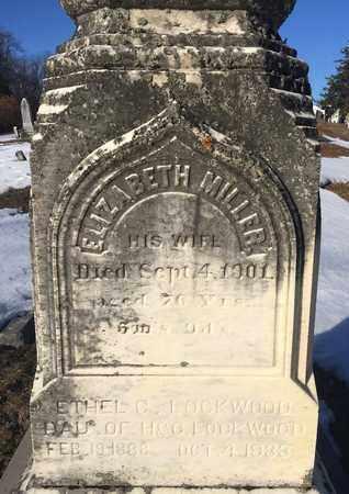 MILLER, ELIZABETH - Albany County, New York | ELIZABETH MILLER - New York Gravestone Photos