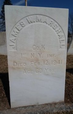MARSHALL, JAMES W - Albany County, New York | JAMES W MARSHALL - New York Gravestone Photos