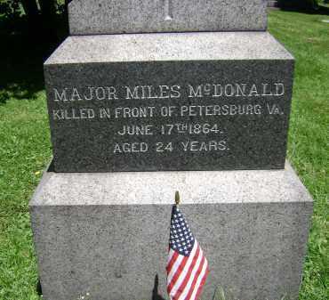 MCDONALD, MILES - Albany County, New York | MILES MCDONALD - New York Gravestone Photos