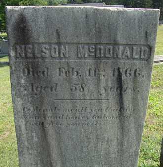 MCDONALD, NELSON - Albany County, New York   NELSON MCDONALD - New York Gravestone Photos