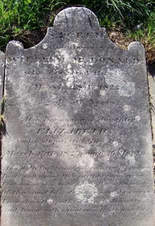 MCDONALD, ELIZABETH - Albany County, New York | ELIZABETH MCDONALD - New York Gravestone Photos
