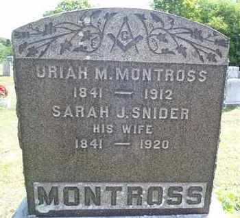 MONTROSS, SARAH J - Albany County, New York   SARAH J MONTROSS - New York Gravestone Photos