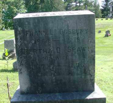 OGSBURY, BERTHA Q - Albany County, New York | BERTHA Q OGSBURY - New York Gravestone Photos
