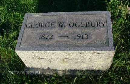 OGSBURY, GEORGE W - Albany County, New York   GEORGE W OGSBURY - New York Gravestone Photos