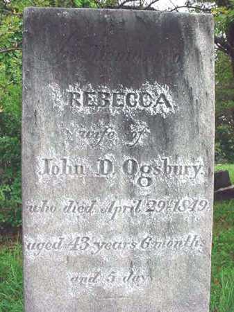 OGSBURY, REBECCA - Albany County, New York   REBECCA OGSBURY - New York Gravestone Photos