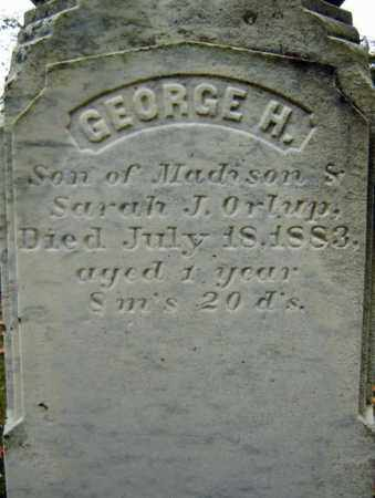 ORLUP, GEORGE H - Albany County, New York | GEORGE H ORLUP - New York Gravestone Photos