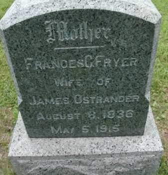 OSTRANDER, FRANCES - Albany County, New York | FRANCES OSTRANDER - New York Gravestone Photos
