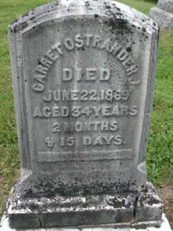 OSTRANDER, GARRET, JR. - Albany County, New York | GARRET, JR. OSTRANDER - New York Gravestone Photos