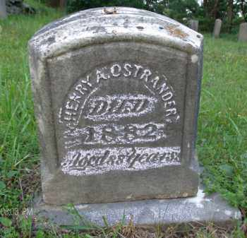 OSTRANDER, HENRY A - Albany County, New York | HENRY A OSTRANDER - New York Gravestone Photos