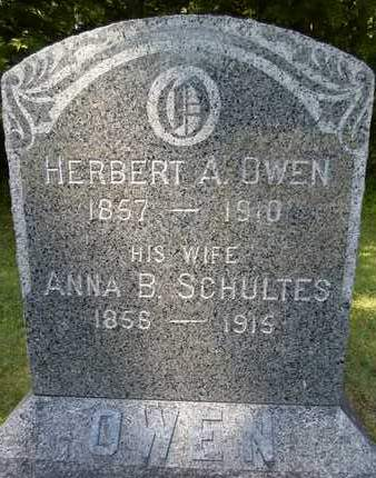 SCHULTES OWEN, ANNA B - Albany County, New York | ANNA B SCHULTES OWEN - New York Gravestone Photos