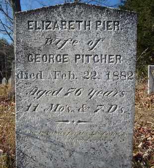 PIER, ELIZABETH - Albany County, New York | ELIZABETH PIER - New York Gravestone Photos
