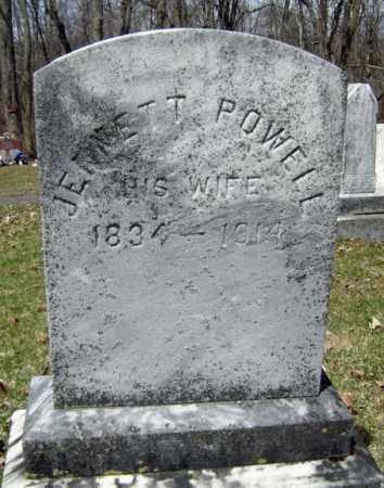 POWELL, JENNETT - Albany County, New York | JENNETT POWELL - New York Gravestone Photos