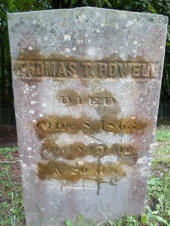POWELL, THOMAS T - Albany County, New York | THOMAS T POWELL - New York Gravestone Photos