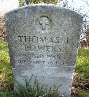 POWERS (WWI), THOMAS J - Albany County, New York | THOMAS J POWERS (WWI) - New York Gravestone Photos