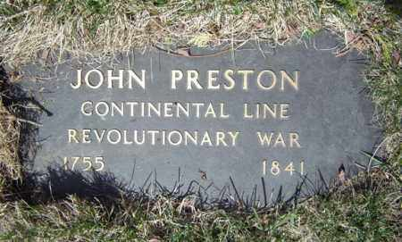 PRESTON, JOHN - Albany County, New York | JOHN PRESTON - New York Gravestone Photos
