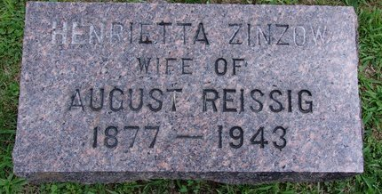 ZINZOW REISSIG, HENRIETTA - Albany County, New York | HENRIETTA ZINZOW REISSIG - New York Gravestone Photos