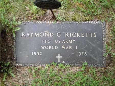 RICKETTS, RAYMOND G - Albany County, New York | RAYMOND G RICKETTS - New York Gravestone Photos
