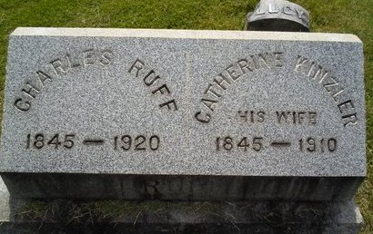 KINZLER RUFF, CATHERINE - Albany County, New York | CATHERINE KINZLER RUFF - New York Gravestone Photos