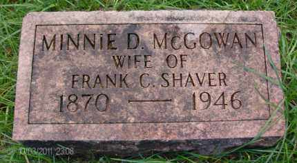 SHAVER, MINNIE D - Albany County, New York | MINNIE D SHAVER - New York Gravestone Photos