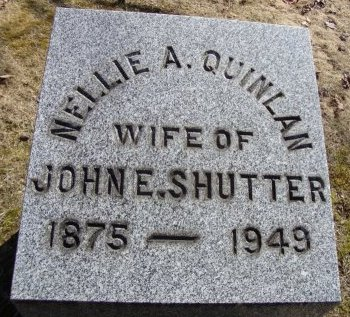 QUINLAN SHUTTER, NELLIE A - Albany County, New York | NELLIE A QUINLAN SHUTTER - New York Gravestone Photos