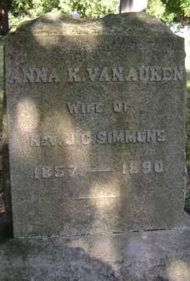 VAN AUKEN, ANNA K - Albany County, New York | ANNA K VAN AUKEN - New York Gravestone Photos