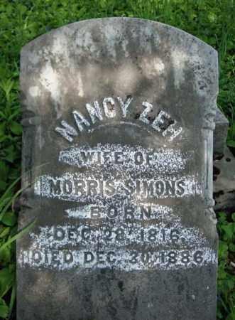 ZEH SIMONS, NANCY - Albany County, New York   NANCY ZEH SIMONS - New York Gravestone Photos