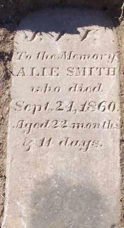 SMITH, ALIE - Albany County, New York | ALIE SMITH - New York Gravestone Photos