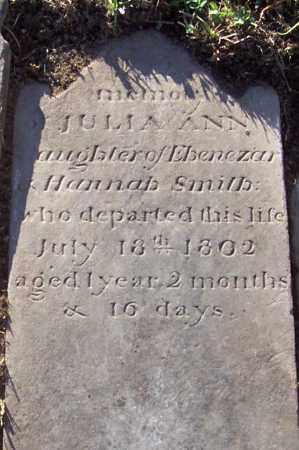 SMITH, JULIA ANN - Albany County, New York | JULIA ANN SMITH - New York Gravestone Photos