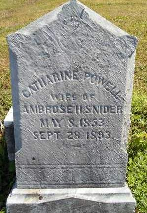 POWELL SNIDER, CATHARINE - Albany County, New York | CATHARINE POWELL SNIDER - New York Gravestone Photos