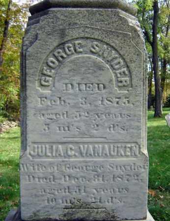 VAN AUKEN SNYDER, JULIA C - Albany County, New York | JULIA C VAN AUKEN SNYDER - New York Gravestone Photos