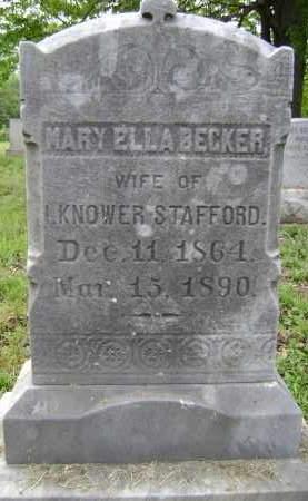 BECKER, MARY ELLA - Albany County, New York | MARY ELLA BECKER - New York Gravestone Photos