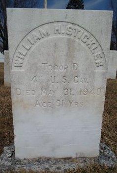STICKLER, WILLIAM H - Albany County, New York | WILLIAM H STICKLER - New York Gravestone Photos