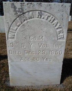 THAYER (SA), WILLIAM H - Albany County, New York   WILLIAM H THAYER (SA) - New York Gravestone Photos