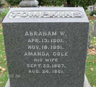 TOMPKINS, ABRAHAM W - Albany County, New York | ABRAHAM W TOMPKINS - New York Gravestone Photos
