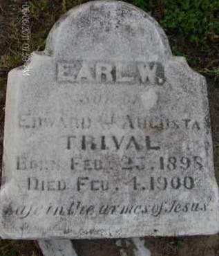 TRIVAL, EARL  W - Albany County, New York | EARL  W TRIVAL - New York Gravestone Photos