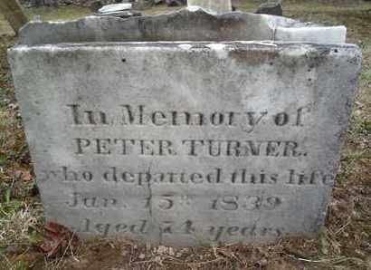 TURNER, PETER - Albany County, New York   PETER TURNER - New York Gravestone Photos