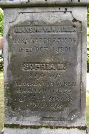 VAN AUKEN, ALANSON - Albany County, New York | ALANSON VAN AUKEN - New York Gravestone Photos