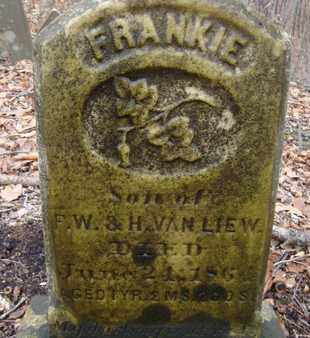 VAN LIEW, FRANKIE - Albany County, New York | FRANKIE VAN LIEW - New York Gravestone Photos
