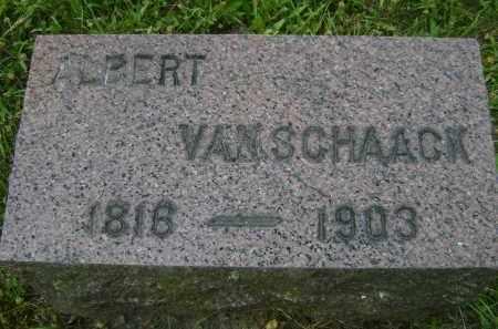 VAN SCHAACK, ALBERT - Albany County, New York | ALBERT VAN SCHAACK - New York Gravestone Photos