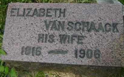 VAN SCHAACK, ELIZABETH - Albany County, New York | ELIZABETH VAN SCHAACK - New York Gravestone Photos