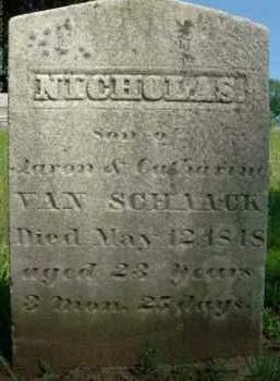 VAN SCHAACK, NICHOLAS - Albany County, New York   NICHOLAS VAN SCHAACK - New York Gravestone Photos