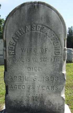 VAN SCHAACK, ROSANNA - Albany County, New York | ROSANNA VAN SCHAACK - New York Gravestone Photos