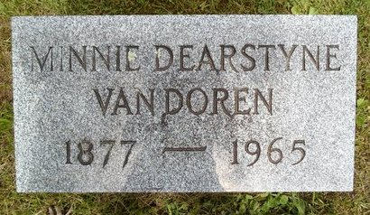 VANDOREN, MINNIE - Albany County, New York | MINNIE VANDOREN - New York Gravestone Photos