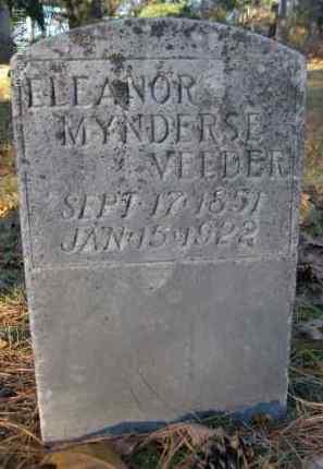 MYNDERSE VEEDER, ELEANOR - Albany County, New York | ELEANOR MYNDERSE VEEDER - New York Gravestone Photos