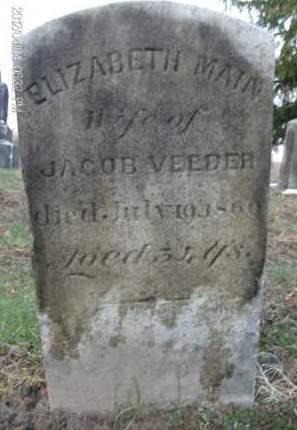 VEEDER, ELIZABETH - Albany County, New York | ELIZABETH VEEDER - New York Gravestone Photos