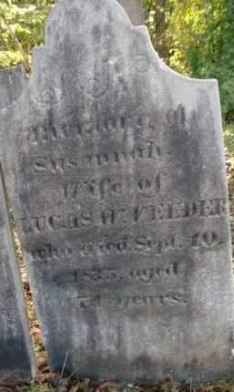 VEEDER, SUSANNAH - Albany County, New York | SUSANNAH VEEDER - New York Gravestone Photos