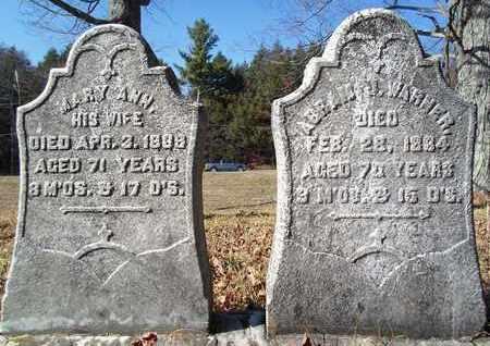 WARNER, MARY ANN - Albany County, New York | MARY ANN WARNER - New York Gravestone Photos