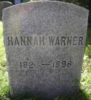 WARNER, HANNAH - Albany County, New York   HANNAH WARNER - New York Gravestone Photos